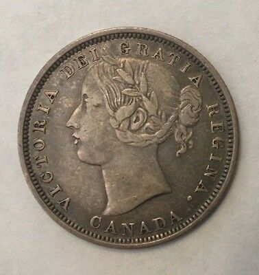 1858 Canada Silver Twenty 20 Cents Only Year Minted