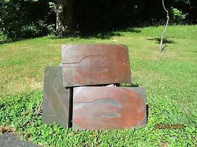 3 Antique Letterpress Wood Type Extra Large Numbers 2 - 3 - 6 From 18 to 21 Inch