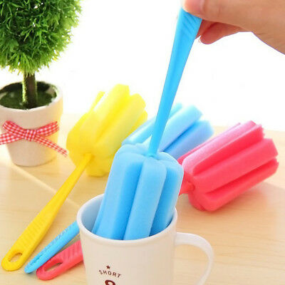 Sponge Cleaner Handle Brush Glass Bottle Cups Kitchen Wash Kitchen Cleaning Tool
