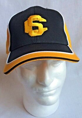 917fdb90 Mens Yellow & Black SC Embroidered Strapback Cap Hat New w/o Tags 100%