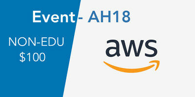 AWS $100 Amazon Web Services (AWS) - NON-EDU Credits