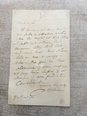 """1836 Autograph  Letter by the """"Father of American Legal Ethics"""