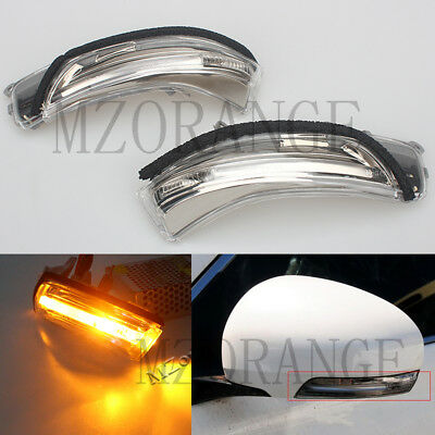 2x Rear View Mirror Trun Signal Light Lamps For Toyota Reiz Prius Crown MARK X