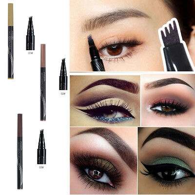 Microblading Eyebrow Tattoo Pen Waterproof Fork Tip Sketch Cosmetic Tools 1PCS