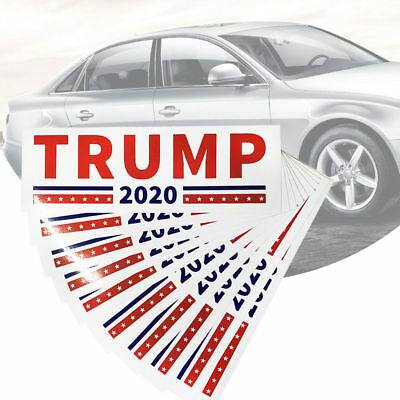 100pcs Donald Trump for President 2020 Make America Great Again Stickers US KS