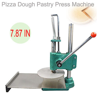 7.87in Dough Roller Sheeter Pasta Maker Bread Molder Pizza Dough Pastry Press CE