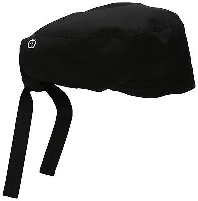 Elastic Band Mens Wonderwork Unisex Scrub Cap Hat Black Surgical One Size Black