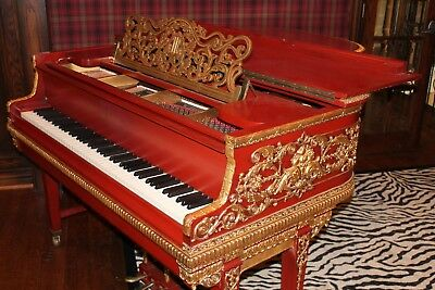 """Spectacular One in the World Hand-carved Knabe Grand Piano"""