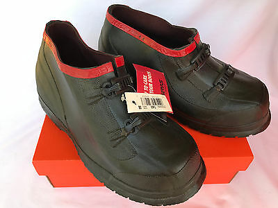 Servus by Honeywell Overshoes T469 2-Buckle Waterproof Blk Rubber Shoes Men's 8