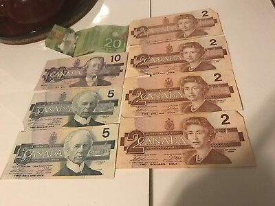 48$ Canadian paper money lot