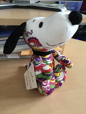 New PEANUTS SNOOPY ART HALLMARK plush Plushie Collectible