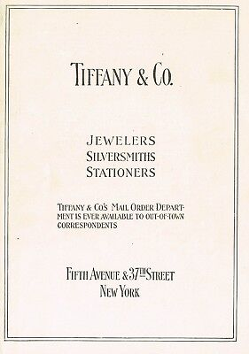 1910s Original Vintage Tiffany & Co New York Print Ad d