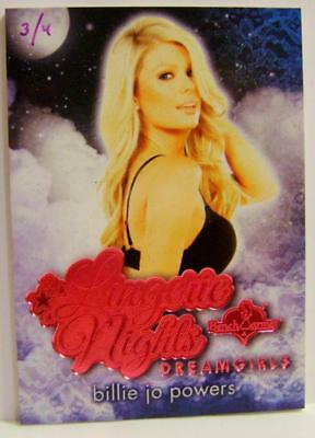 Billie Jo Powers Pink Foil Lingerie Nights Dreamgirls 3/4 Bench Warmer 2017 Rare