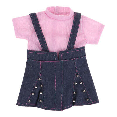 Fashion Doll Suspender Skirt Suit Overall for 18inch American Girl Dolls