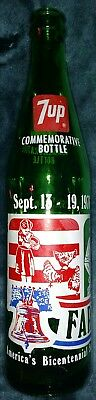 1976 Bicentennial 7-Up Farmfest Farm Fest Commerative Bottle Lake Crystal MN