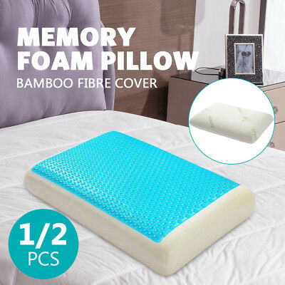 Deluxe Density Memory Foam Pillow With Cooling Gel Top With Cover Gel Hotel Home