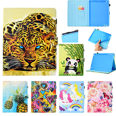 Cute Printed Magnetic Leather Wallet Flip Smart Stand Case Cover For Lot iPad