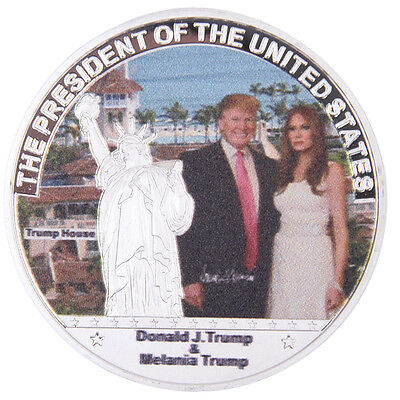 US President Trump and Lady Commemorative Coin Neu Hot
