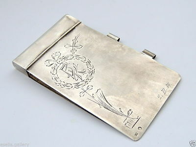 Rare Original Russian USSR Sterling Silver 875 Antique Diaries Cover Case Signed