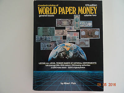 361-World Paper Money, Albert Pick Standard catalog of, fifth edition