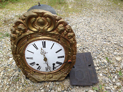 antique movement antique clock comtoise clock pendulum bell french antique