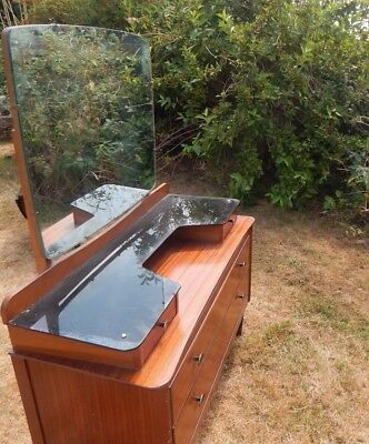 Vintage Retro Lebus 60's Dressing Table With Mirror House Clearance