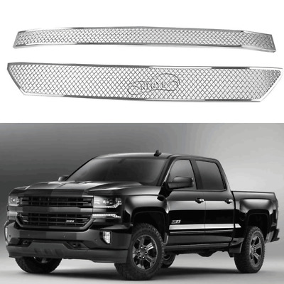 Chrome Grill For 2016 2018 Chevy Silverado 1500 Stick On Grille