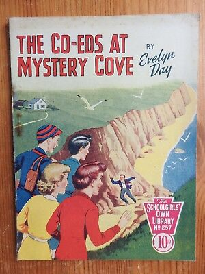 Schoolgirls' Own Library #257 The Co-Eds at Mystery Cove - Evelyn Day VG+