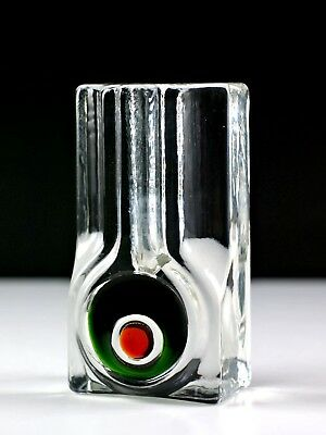WALTHER GLAS 60-70s West German Vintage Pop Art Solifleur Stem Glass Vase #1