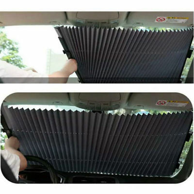 Car Retractable Curtain With UV Protection Front Windshield Visor AU STOCK