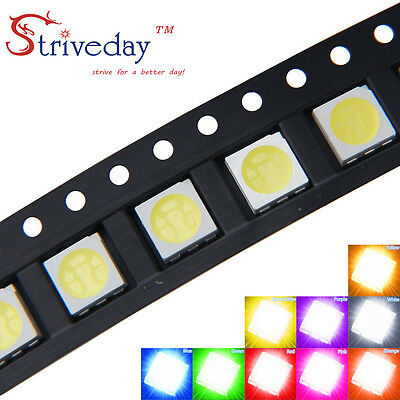 5050 SMD LED SMT PLCC-6 3 chip Super bright Ultra Bright light Emitting Diode