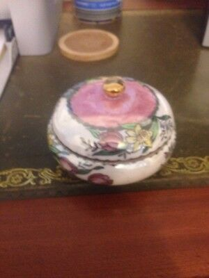 Lovely Old Maling Lustre Pink Small Tea Caddy/trinket Dish