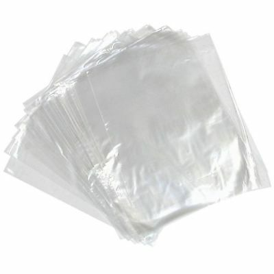 "8 x 10"" CLEAR Polythene Food Use FREEZER STORAGE Bags Strong Craft Packing 100g"