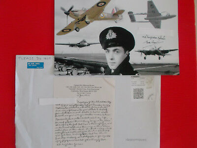 Eric Melrose Brown WW2-Legende Royal Navy Officer 8X10 Foto plus Schriftstück!