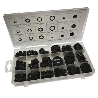 Toolzone 125Pc Assorted Rubber Grommet Set -Free post