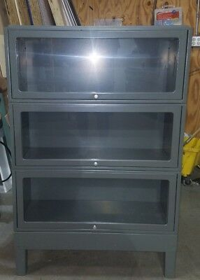"""Jebco Barrister Metal Bookcase  33""""w x 13""""D x 50.5""""H"""