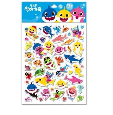 Pinkfong Sticker Soft Epoxy Shark Family For Baby Infant Kids