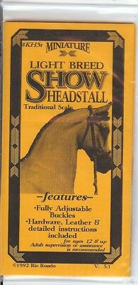 Rio Rondo Light Breed Show Halter Kit for 1:9 scale Breyer horse BLACK leather