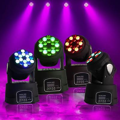 Pack 4 Minis LYRES BEAM 18LED RVB PROJECTEUR DMX