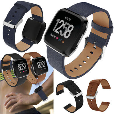 2018 Leather Replacement Wristband Watch Band Strap for Fitbit Versa Bracelet