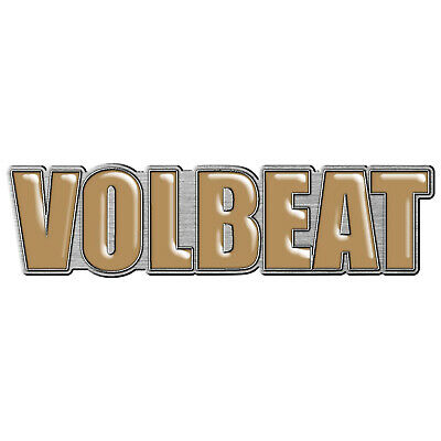 Volbeat Yellow Logo Metal Pin Button Badge Official Metal Rock Band Merch