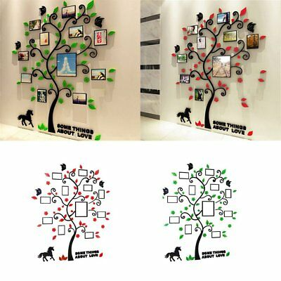 DIY Home Family Decoration Wallpaper 3D Acrylic Photo Frame Tree Wall Sticker HH