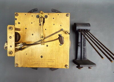Vintage Enfield mantel clock movement and chime for repair or spares