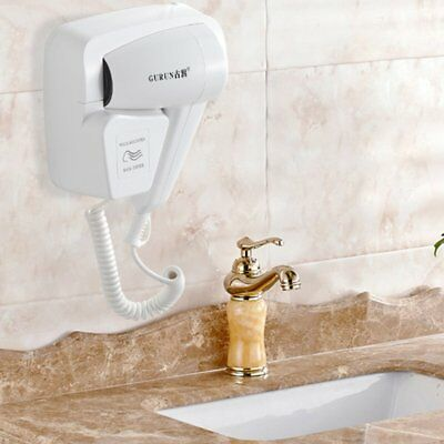 Electric Hair Dryer Wall Mounted Fixed Holster Type White Hotel Washroom S#
