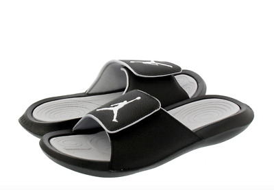e202ed9360c Air Jordan Hydro 6 Slides Sandals Black White VeIcro 881473-011  50 New  Mens 8