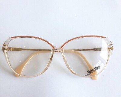 Vintage - 1980's Rodenstock Clear and White Plastic Eyeglasses