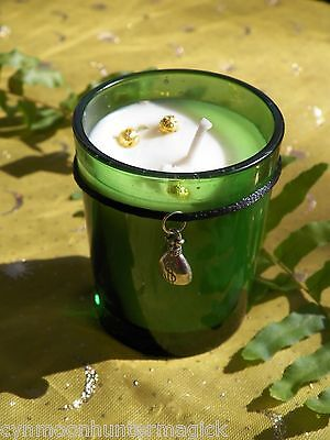 Prosperity Hand Made Money Spell Soy Ritual Candle Money Drawing Pagan Wicca