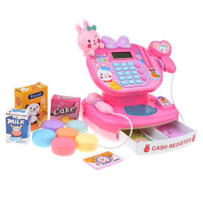 Pretend Play Supermarket Scanner Cash Register Shopping Play Food Props Toys