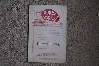1924 Punch Bowl, Duke of York's Theatre, London - 12 pages