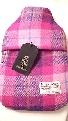 Harris Tweed hot water bottle cosy with bottle Free Postage